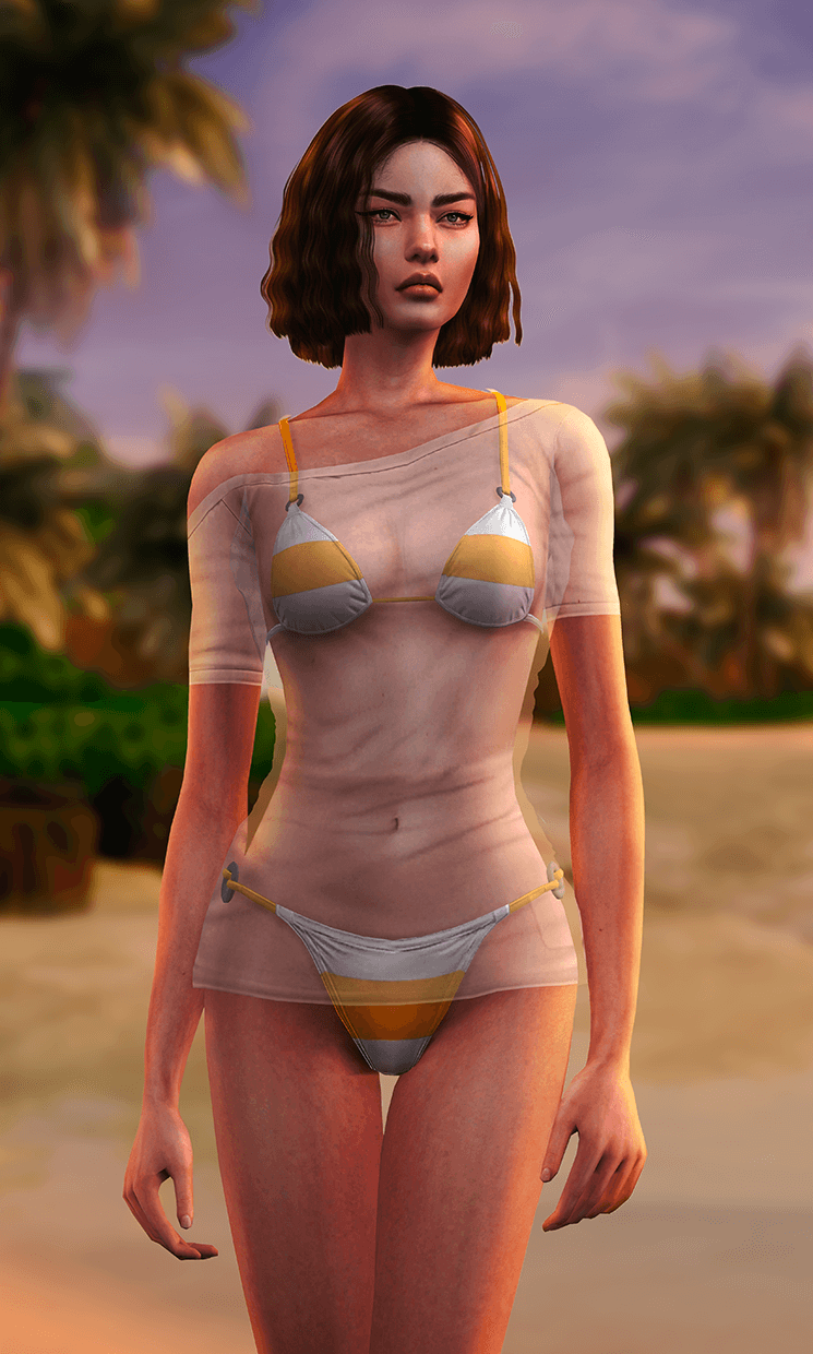 Doa5 hot summer shirt swimsuit by Astya96