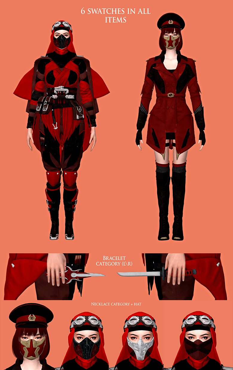 Mortal combat 11 skarlet outfits by Astya96