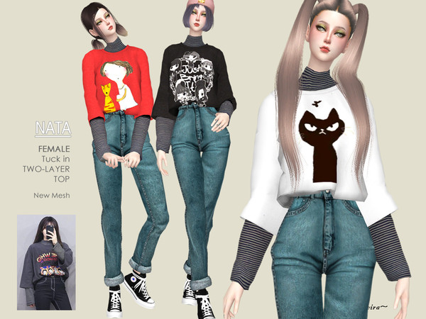 NATA - Oversize Tee 2 Layers by Helsoseira