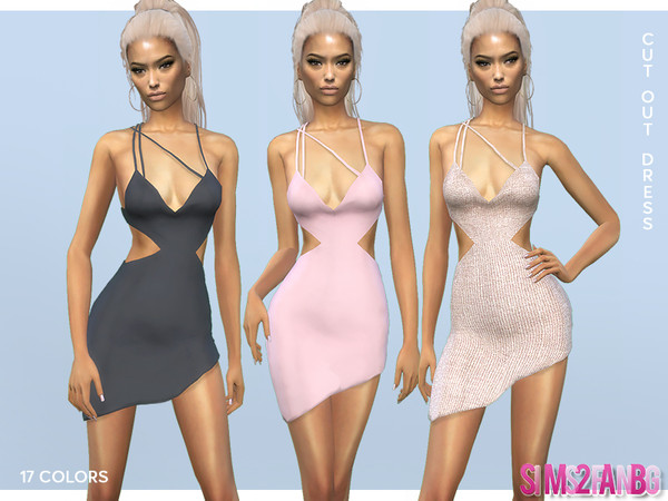 388 - Cut Out Dress by sims2fanbg