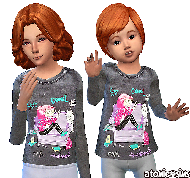 Pepco t-shirt for kids and toddlers by Atomic-sims