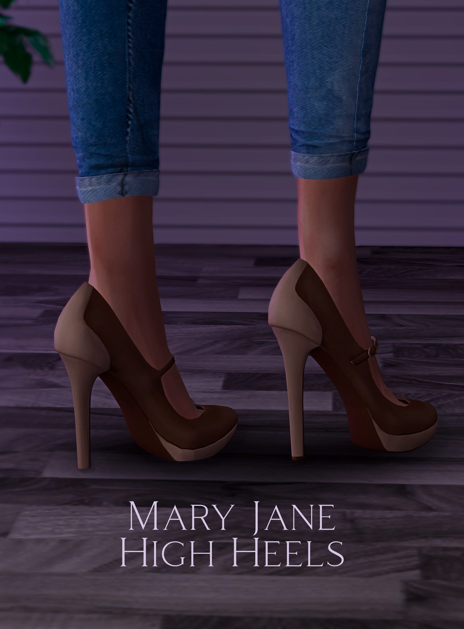 Mary Jane High Heels: With & Without Socks by Astya96