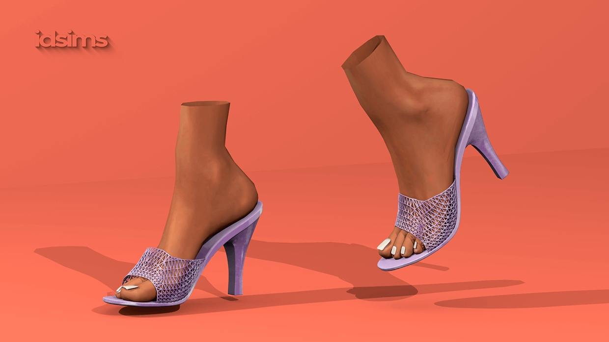 Net Sandals by i-D sims