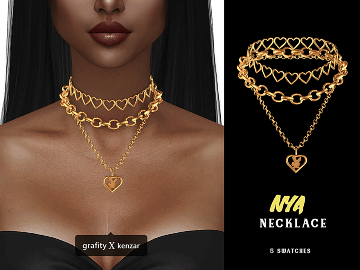 Nya Layered Necklace by Grafity-CC