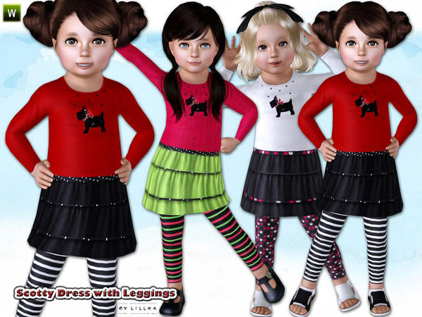 Scotty Dress with Leggings by lillka