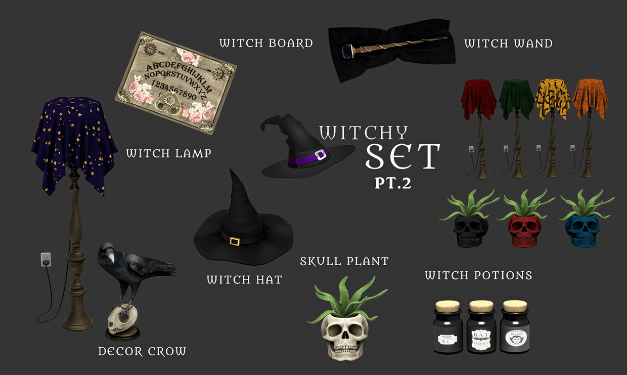 Witchy set part 2 by Leo-Sims
