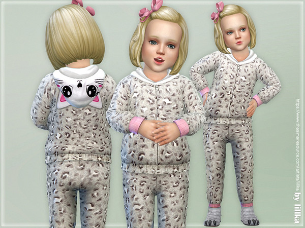 Gray Leopard Hooded Overall by lillka
