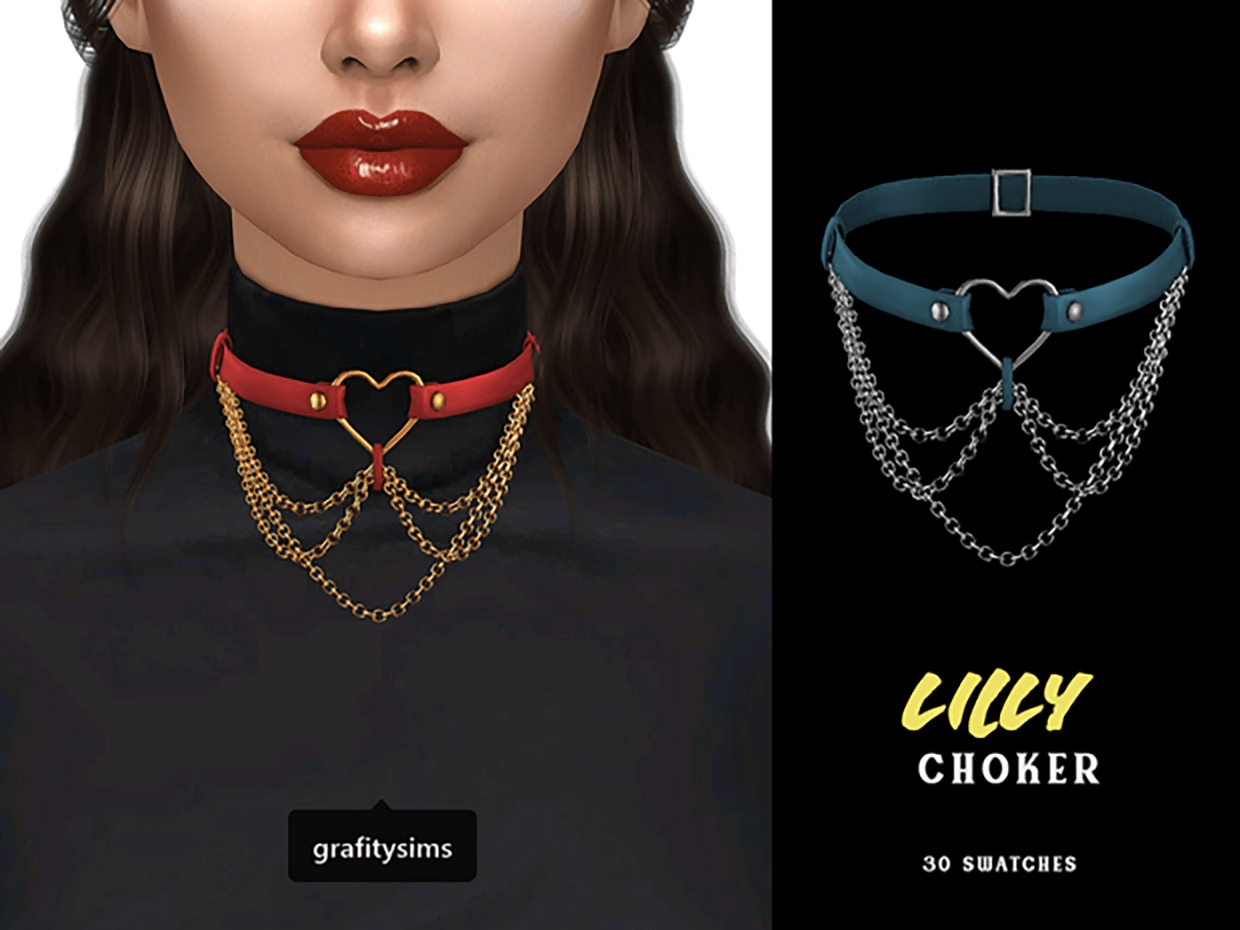 Lilly Choker With Chains by Grafity-CC