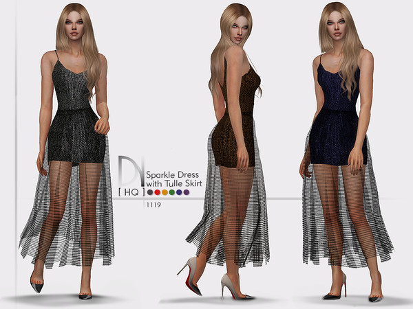 Sparkle Dress with Tulle Skirt by DarkNighTt