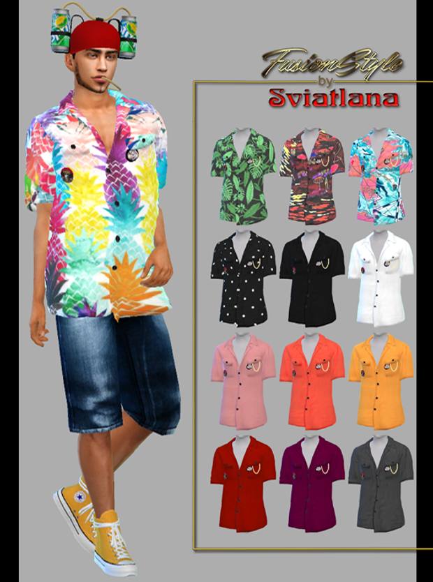 Summer men's shirt by Sviatlana