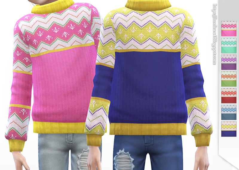 Knitted Sweater for kids by Lorelea