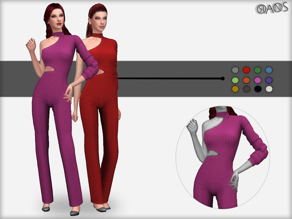 Cut Out One Sleeve Jumpsuit by OranosTR