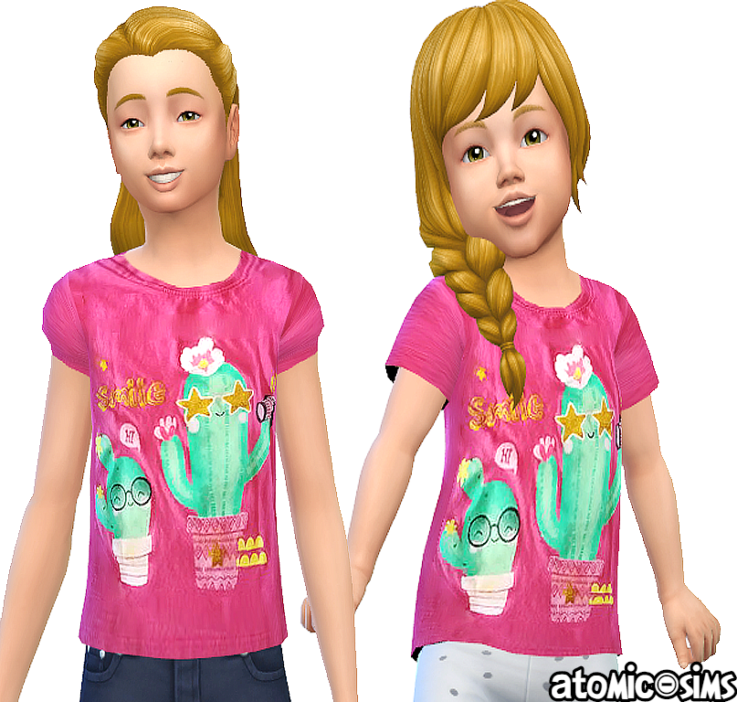 Pepco Cactus smile t-shirt by Atomic-sims