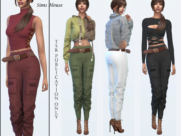 Women's Cargo Pants by Sims House