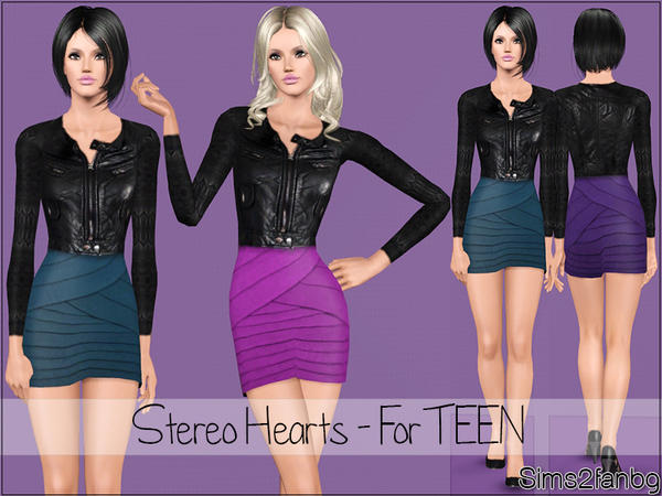 Stereo Hearts - For TEEN by sims2fanbg