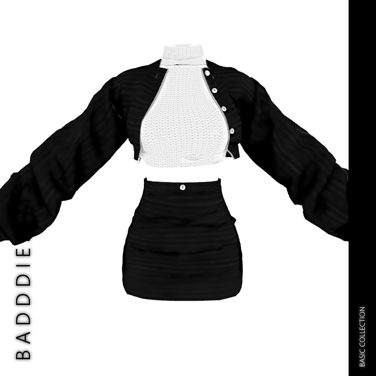 BASIC COLLECTION CROOKED SET by BadddieSims