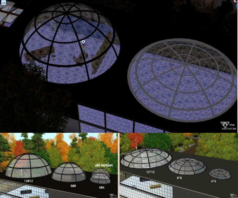Окна для крыши Skylight Dome Set by Pitheinfinite