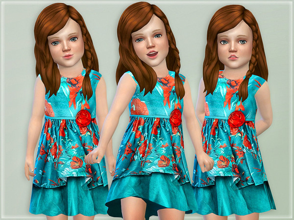Floral Layered Toddler Dress by lillka