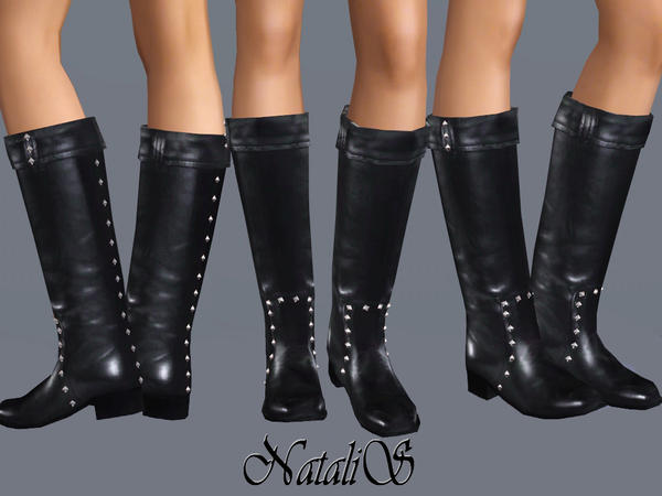 Studded Leather Boots (Seasons)YA-FA by NataliS