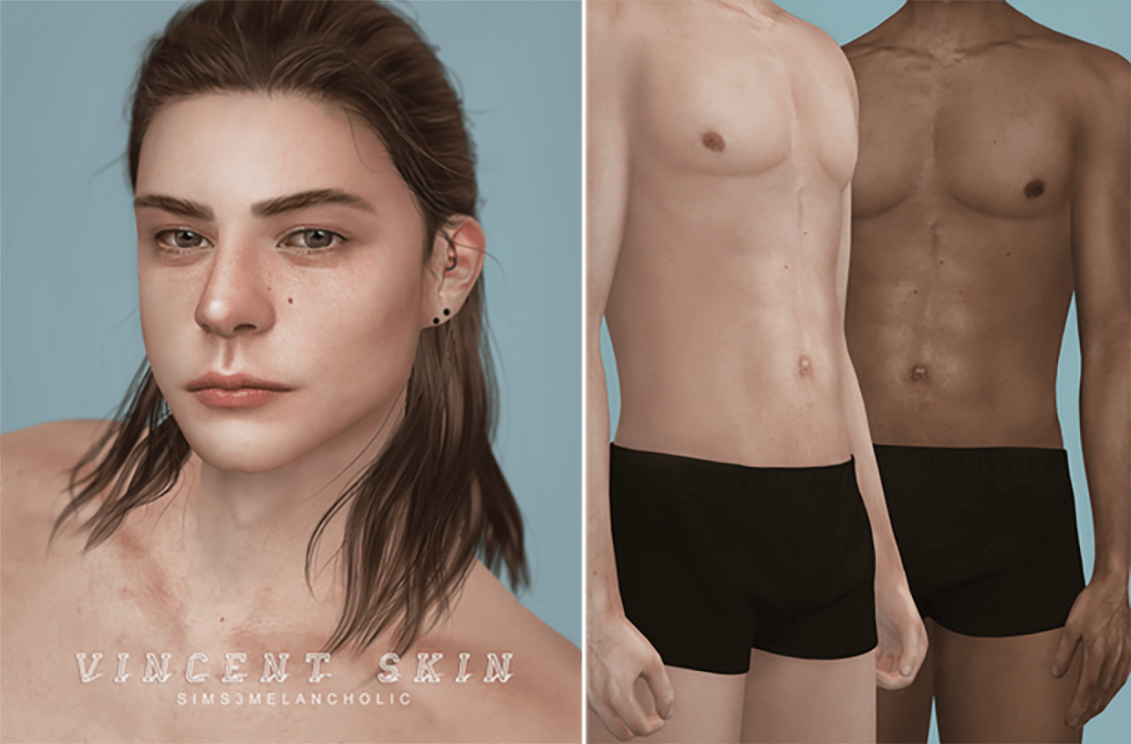 Vincent skin by Sims3Melancholic