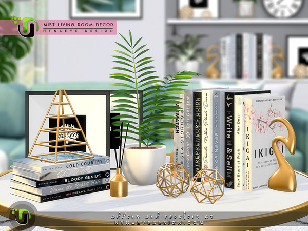Mist Living Room Decor by NynaeveDesign