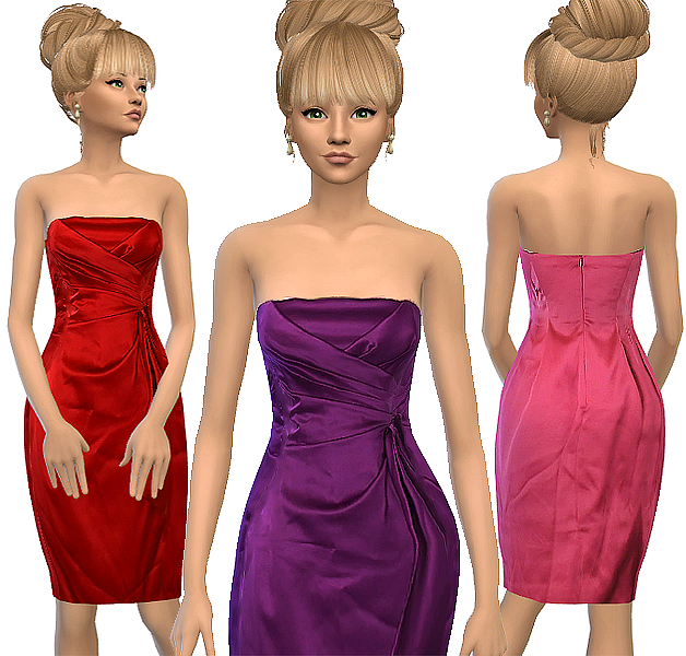 Tenma cocktail dress by Atomic-sims