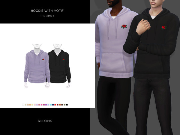 Hoodie with Motif by Bill Sims