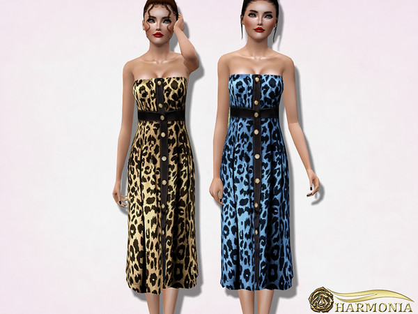 Leopard-print silk-satin Dress by Harmonia
