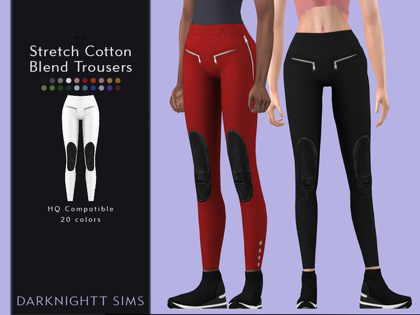 Stretch Cotton Blend Trousers by DarkNighTt