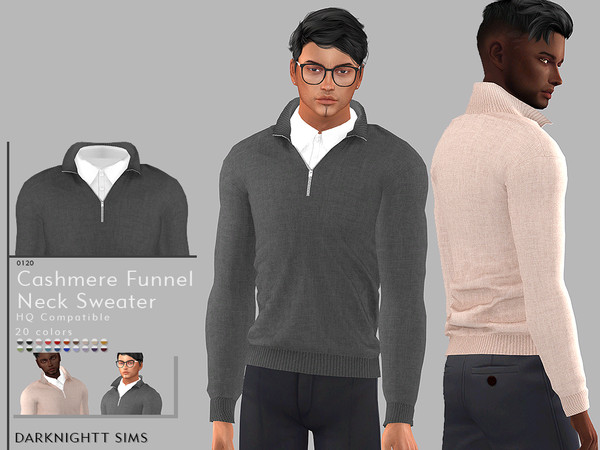 Cashmere Funnel Neck Sweater by DarkNighTt
