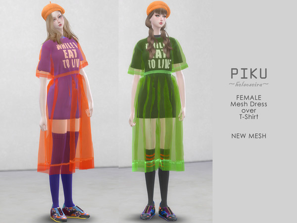 PIKU - Dress over T-shirt by Helsoseira
