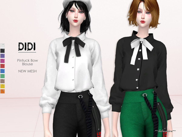 DIDI - Pintuck Blouse by Helsoseira
