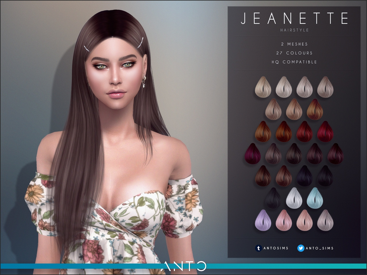 Jeanette Hairstyle by Anto