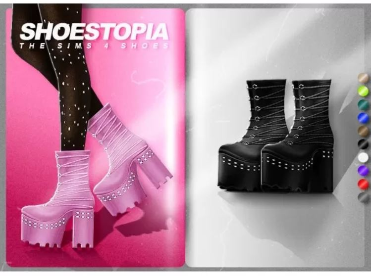 Dark paradise boots by Shoestopia