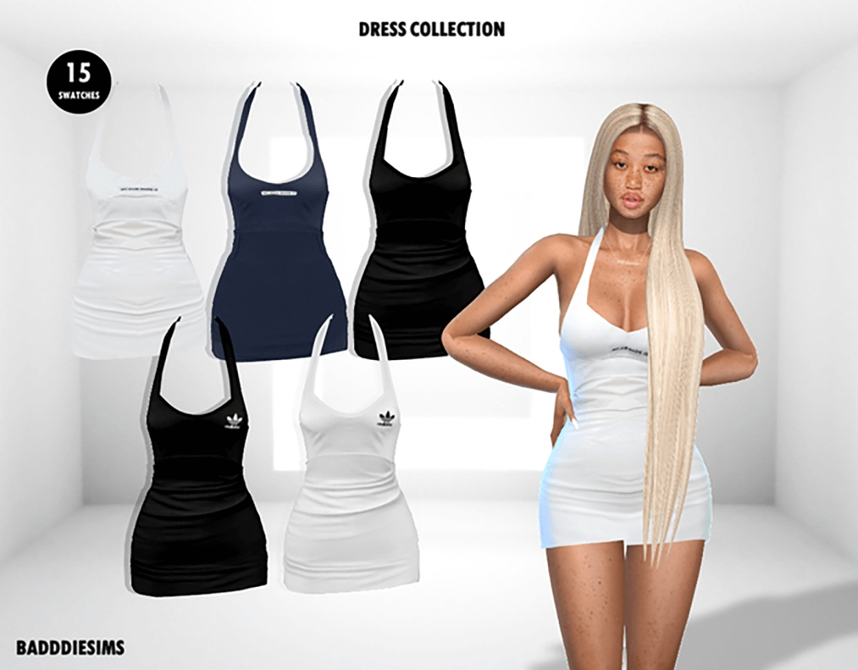 BODYCON LUH DRESS COLLECTION by BadddieSims