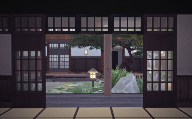 Old Japanese window and arch by Pocci