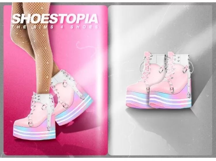 Rainbow boots by Shoestopia