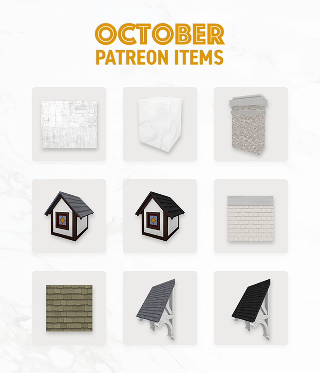 October PatreonItems by SimPlistic