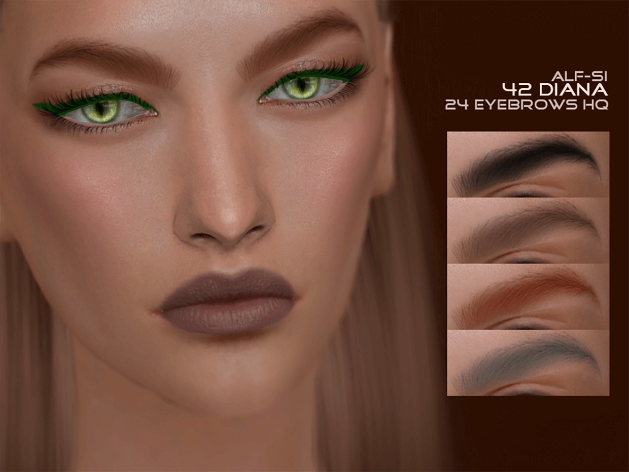 Eyebrows 42 Diana HQ by Alf-si