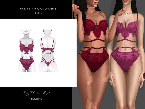Multi Strap Lace Lingerie by Bill Sims