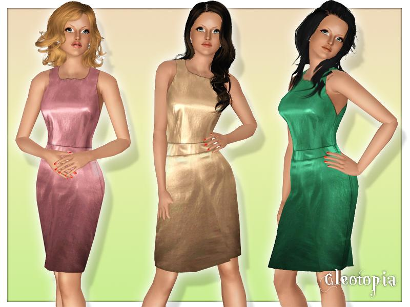 Champagne Silk Halter Dress by Cleotopia