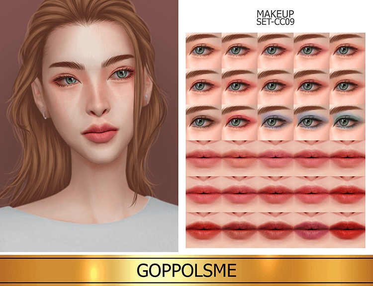 Makeup Set CC09 by GoppolsMe