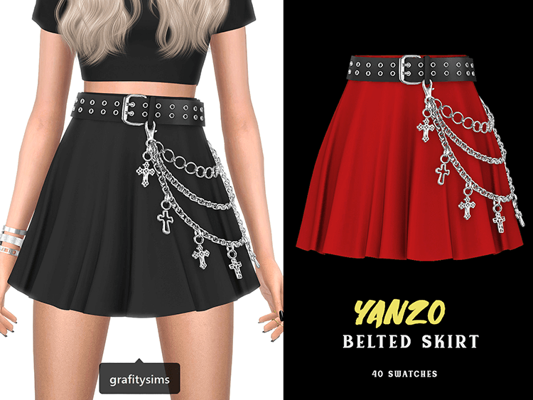 Yanzo Belted Skirt by Grafity-CC