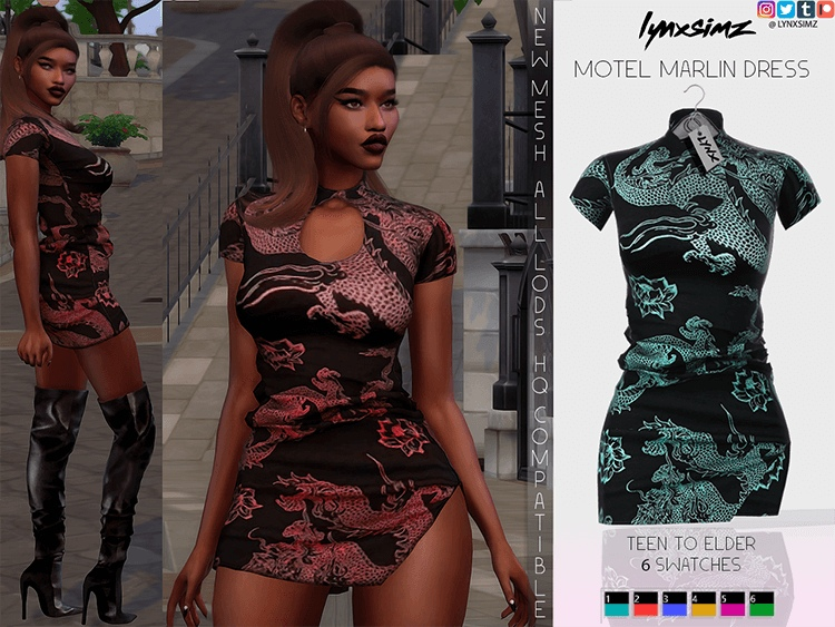 Motel Marlin Mini Dress by LYNXSimz
