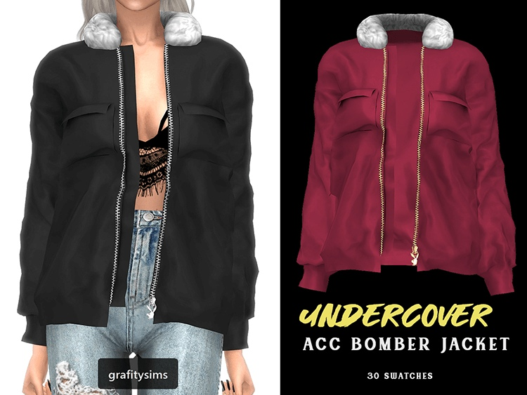 Undercover Bomber Jacket by Grafity-CC