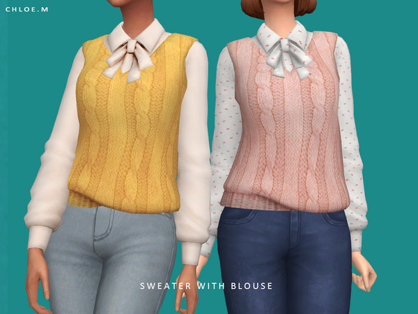 Sweater with Blouse by ChloeMMM