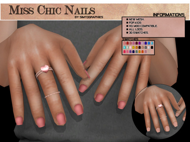 Miss Chic Nails - NEW MESH by simtographies