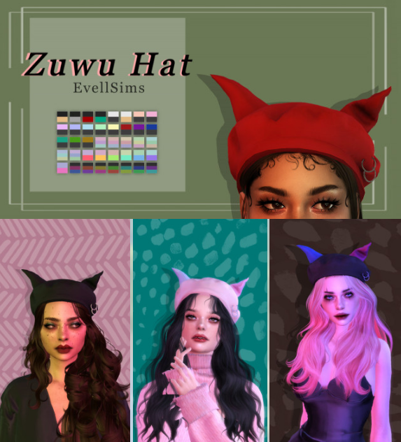 Zuwu Hat by evellsims