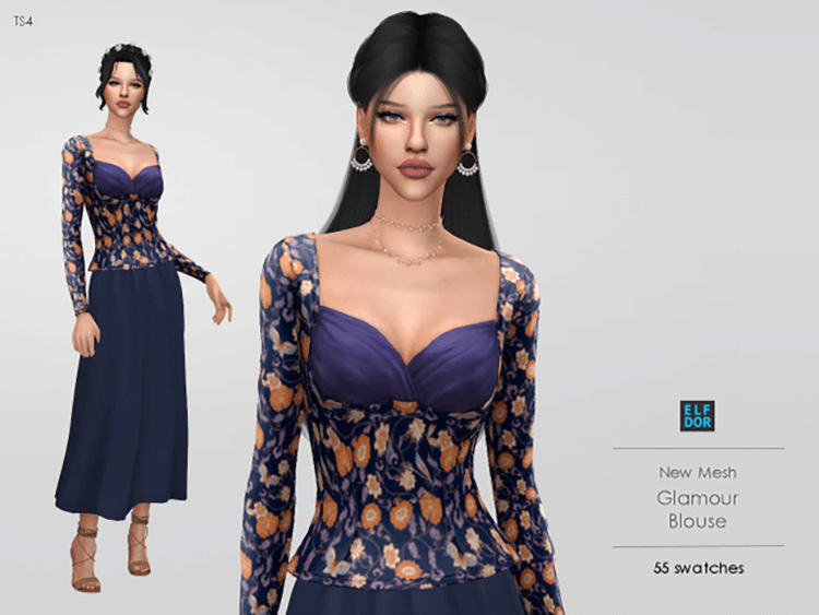 Glamour Blouse by Elfdor