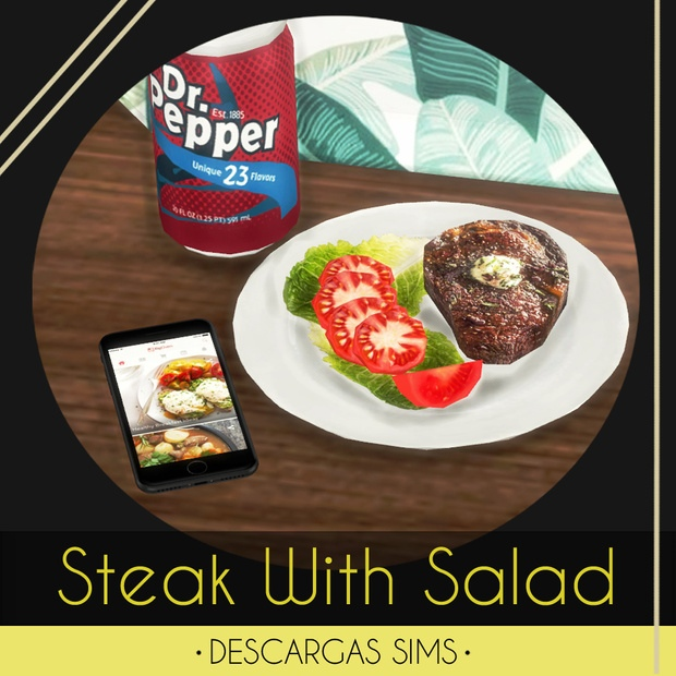 Steak With Salad by Descargas